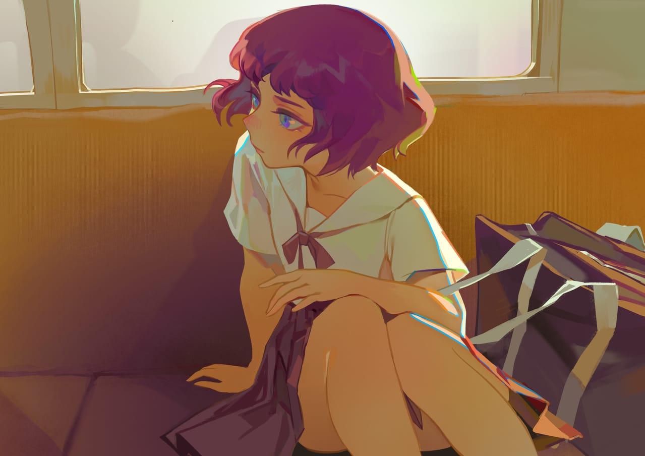 心事 Illust of 南人 January2021_Contest:OC girl illustration
