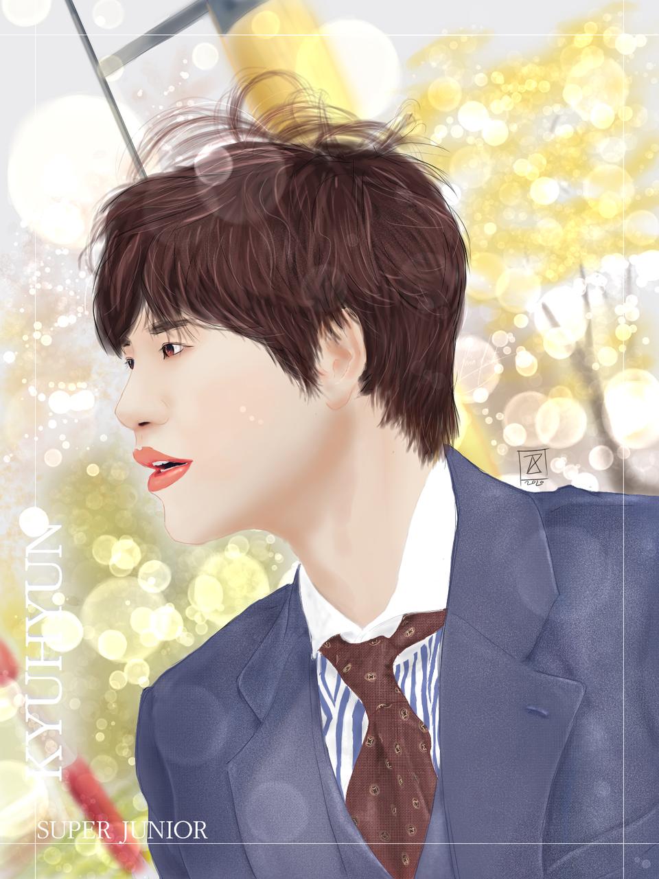 Cho Kyuhyun Illust of Aznty_09 boy illustration paisaje longhair Ilustration medibangpaint Kyuhyun Kpop SUPERJUNIOR