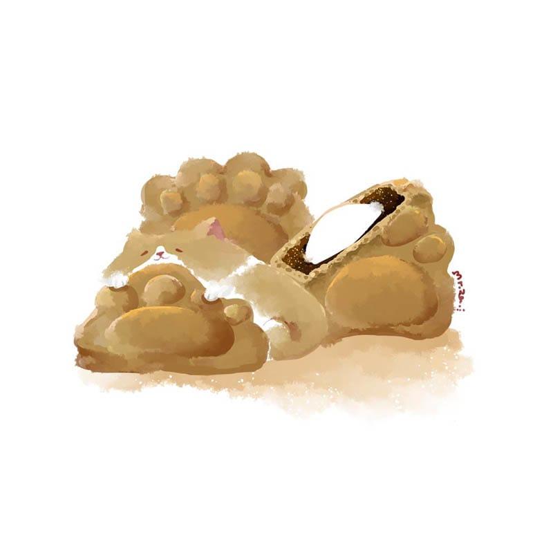 肉球燒 Illust of Aries original dog 食べ物絵 コーギー おいしい ペット 柯基犬 puppydog 菓子