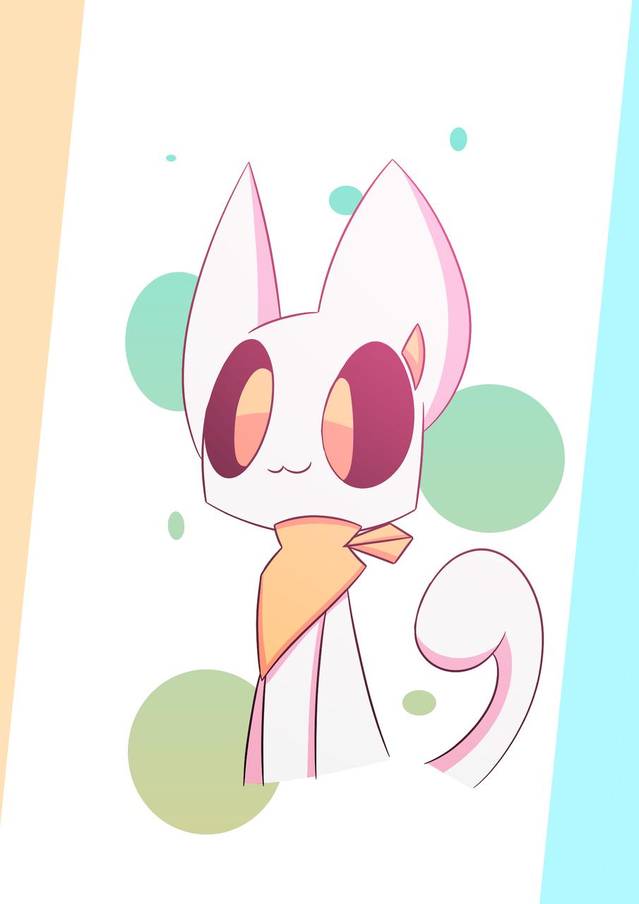 Random Post Illust of PopTwist medibangpaint cat adorable cute poptwist