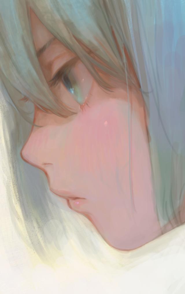 profile2 Illust of 倉敷藤花 medibangpaint eyes 横顔 original Круто
