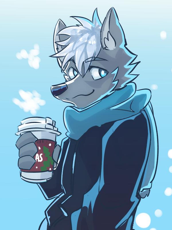 冬 Illust of 肯尼吉 獸人 wolf 咖啡 Christmas furry winter