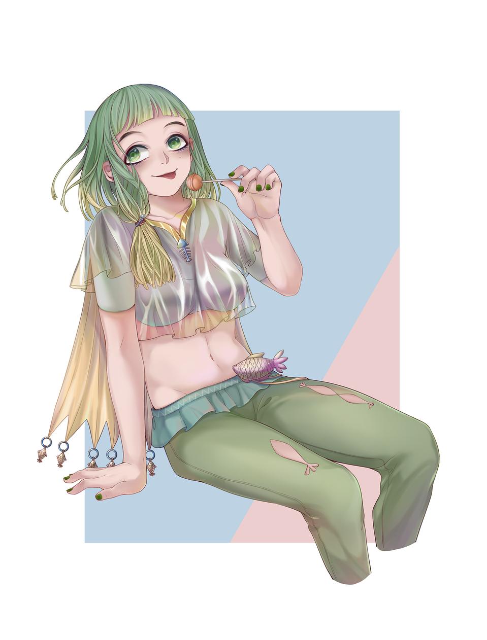 少女2 Illust of 君59 ARTstreet_Ranking girl 坐姿
