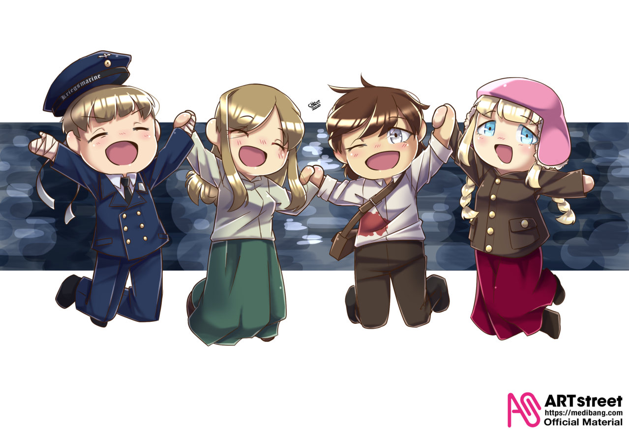 Salt to the Sea Characters [TraceDrawing] Illust of chlOwOan history fanart WWII book Trace&Draw【Official】