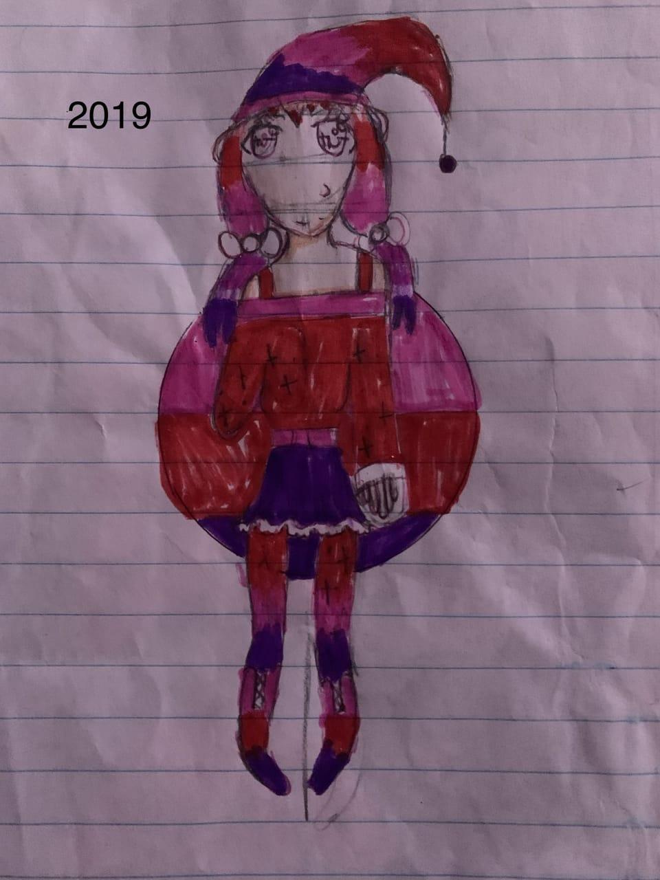 2019 vs 2020 Illust of {Boba Leaf}🌿 medibangpaint witch AnalogDrawing sketchbook animegirl cute DrawThisAgain redraw