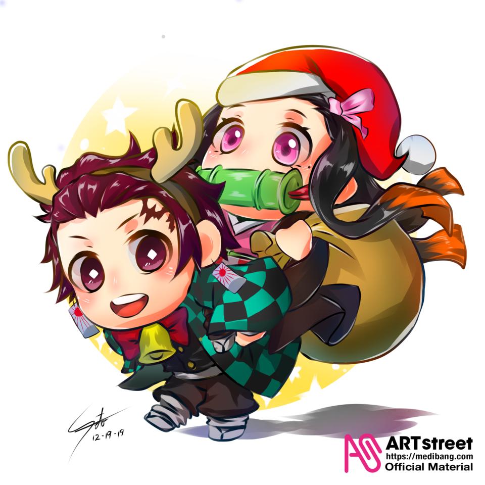 Merry Christmas! Illust of Ecchiban-Sensei KamadoTanjirou KimetsunoYaiba Trace&Draw【Official】 KamadoNezuko
