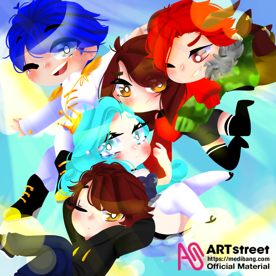 three or five Illust of ドンナ96 tracedrawing original girl medibangpaint anime Trace&Draw【Official】