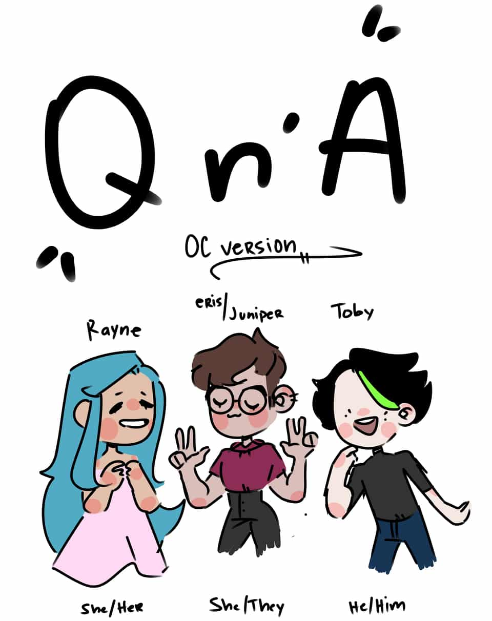 QnA but it's with my ocs oof