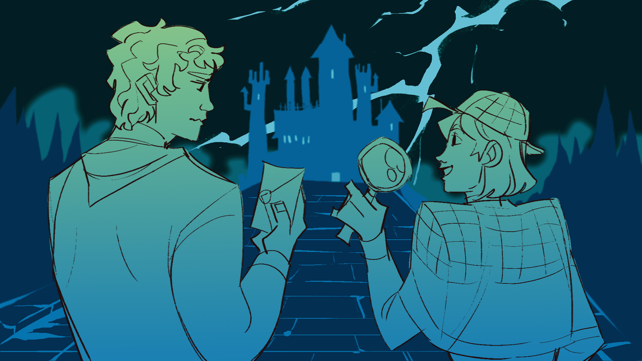 The Haunted Mansion Illust of zoeves mystery August2020_Contest:Horror haunted hauntedhouse detective
