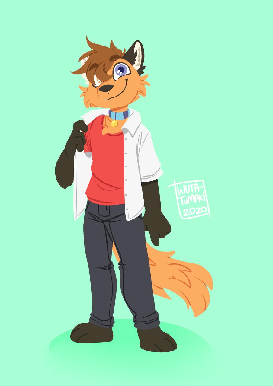Fox Illust of Wuta-Tumaki September2020_Contest:Furry