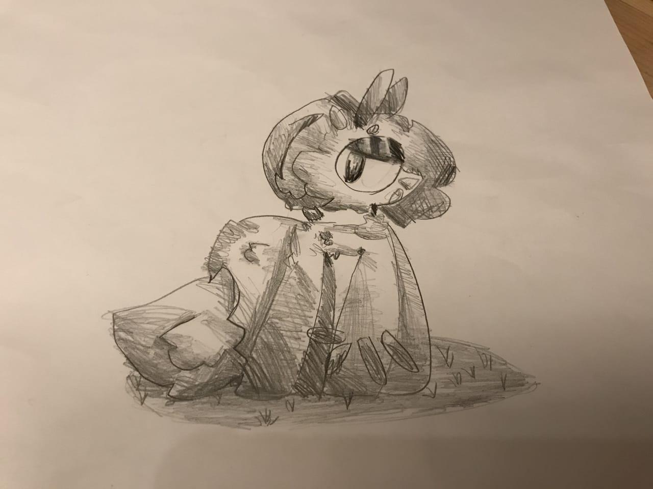Doodle Illust of cat on ø doodle