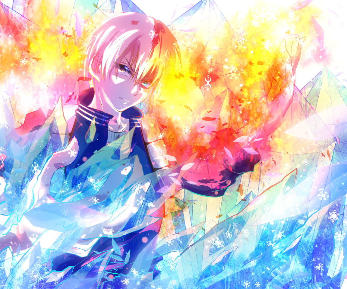 氷炎 Illust of 天狐 MyHeroAcademia Shoto_Todoroki