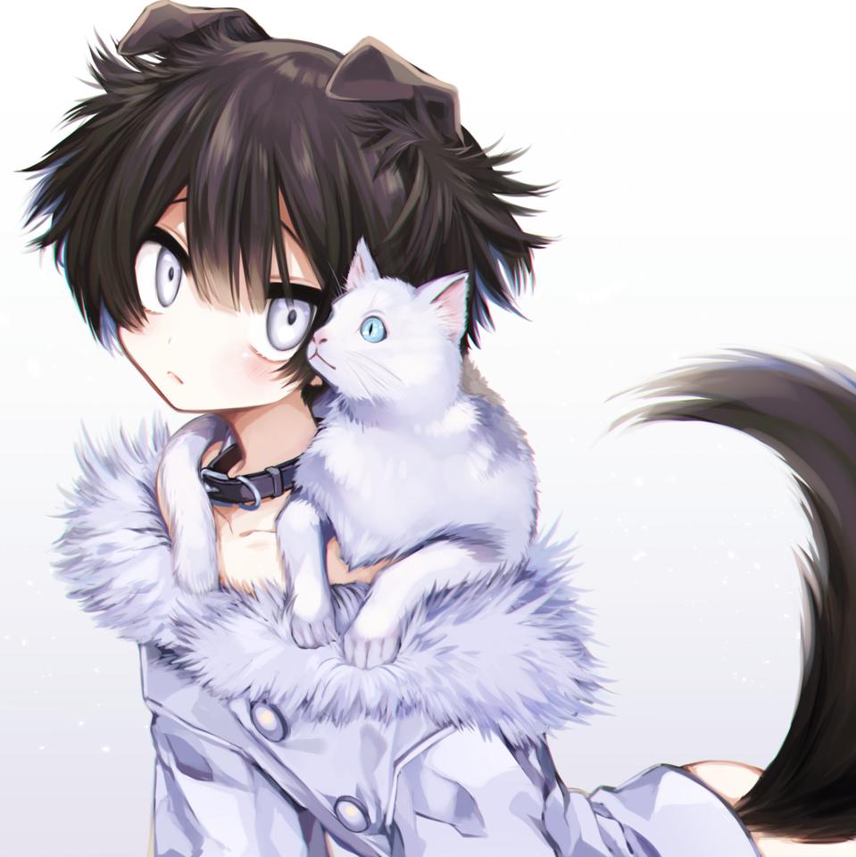 PETIT Illust of 篠谷すみっこ original cat けもみみ boy impasto furry