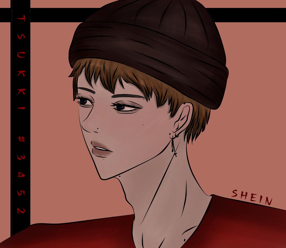 Bonnet Illust of Shein hat newbie Artwork art guy random new boy brownhair colored man