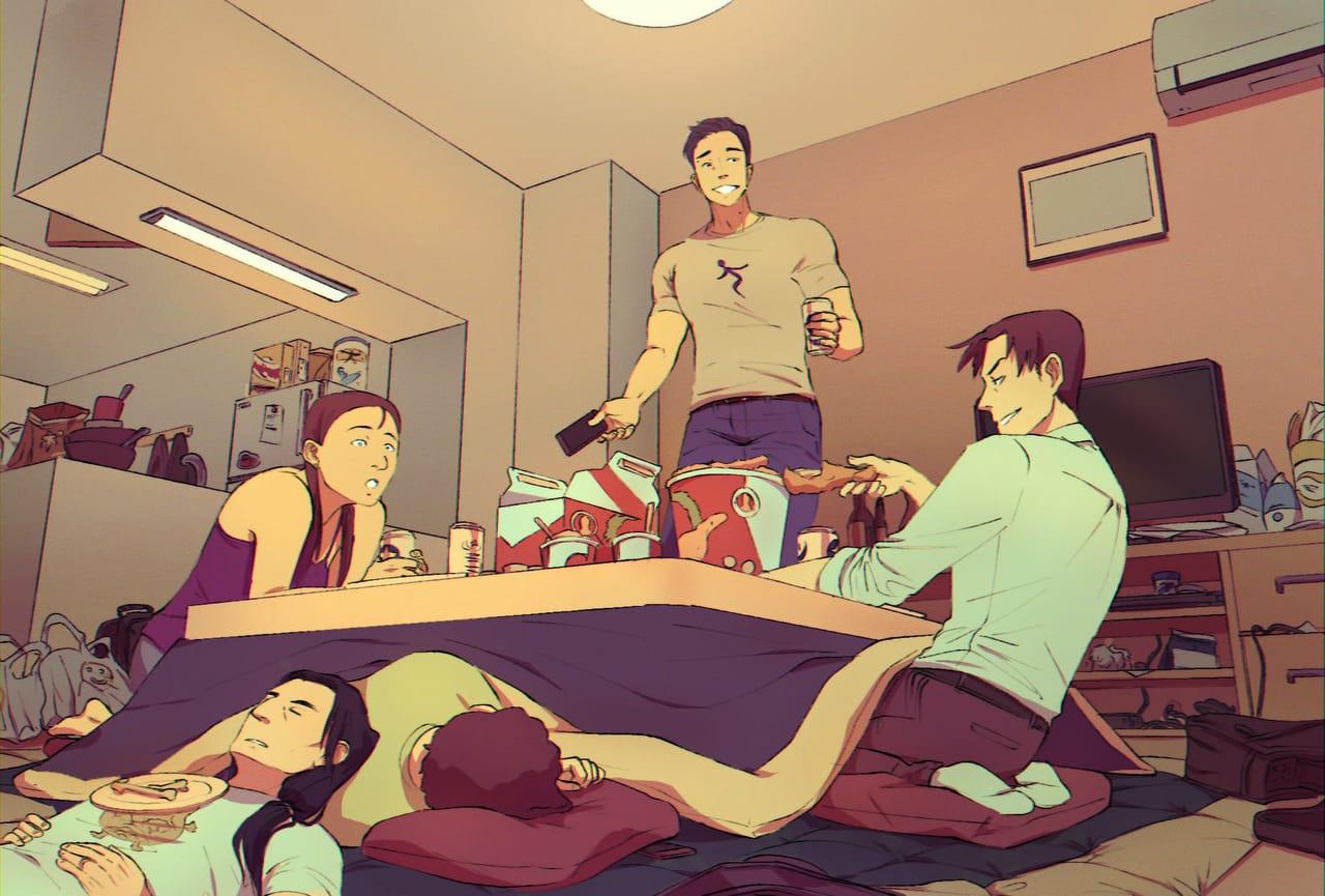 kotatsu & kfc Illust of Pai giftyouwant2020:30000YenGift giftyouwant2020 friend