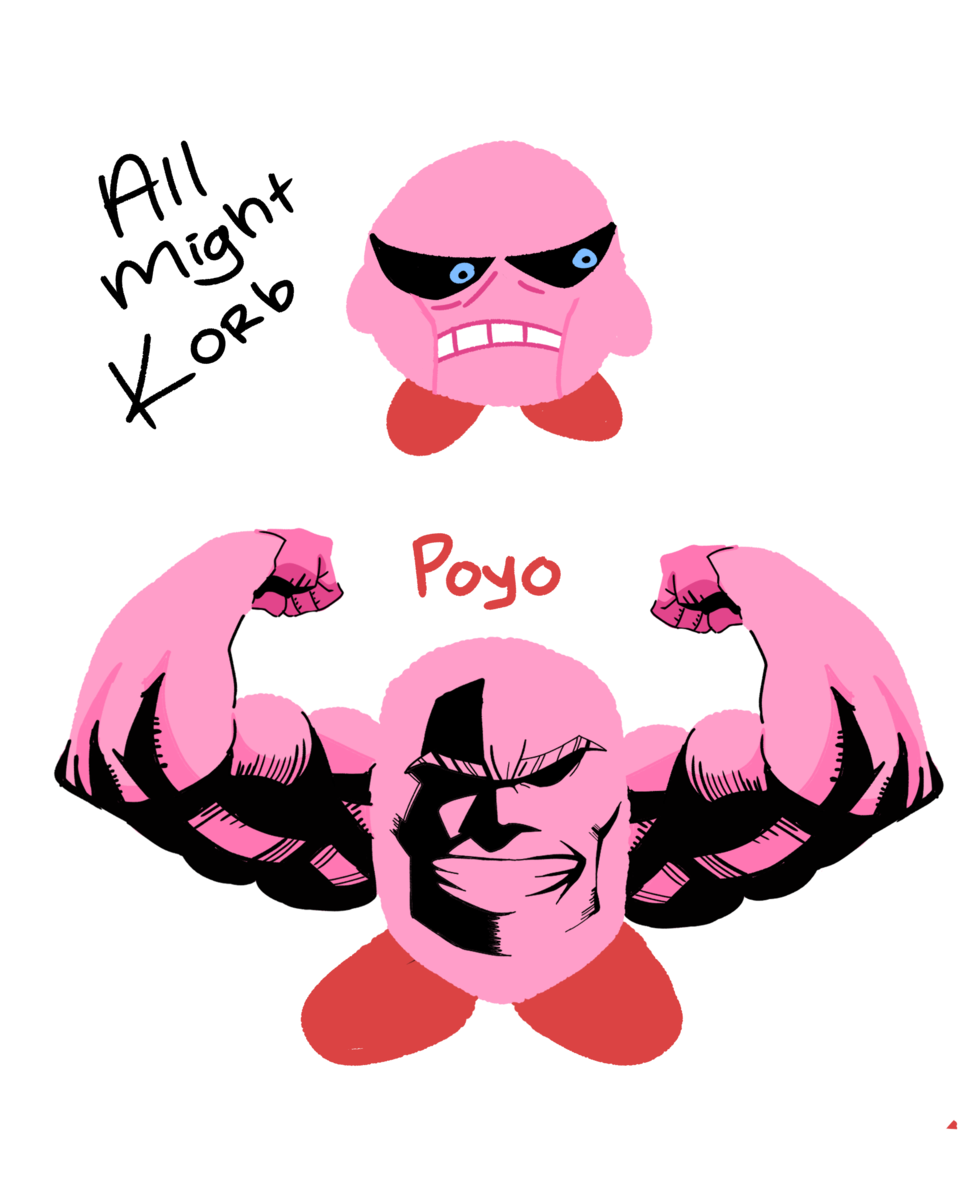 kirb but he's all might