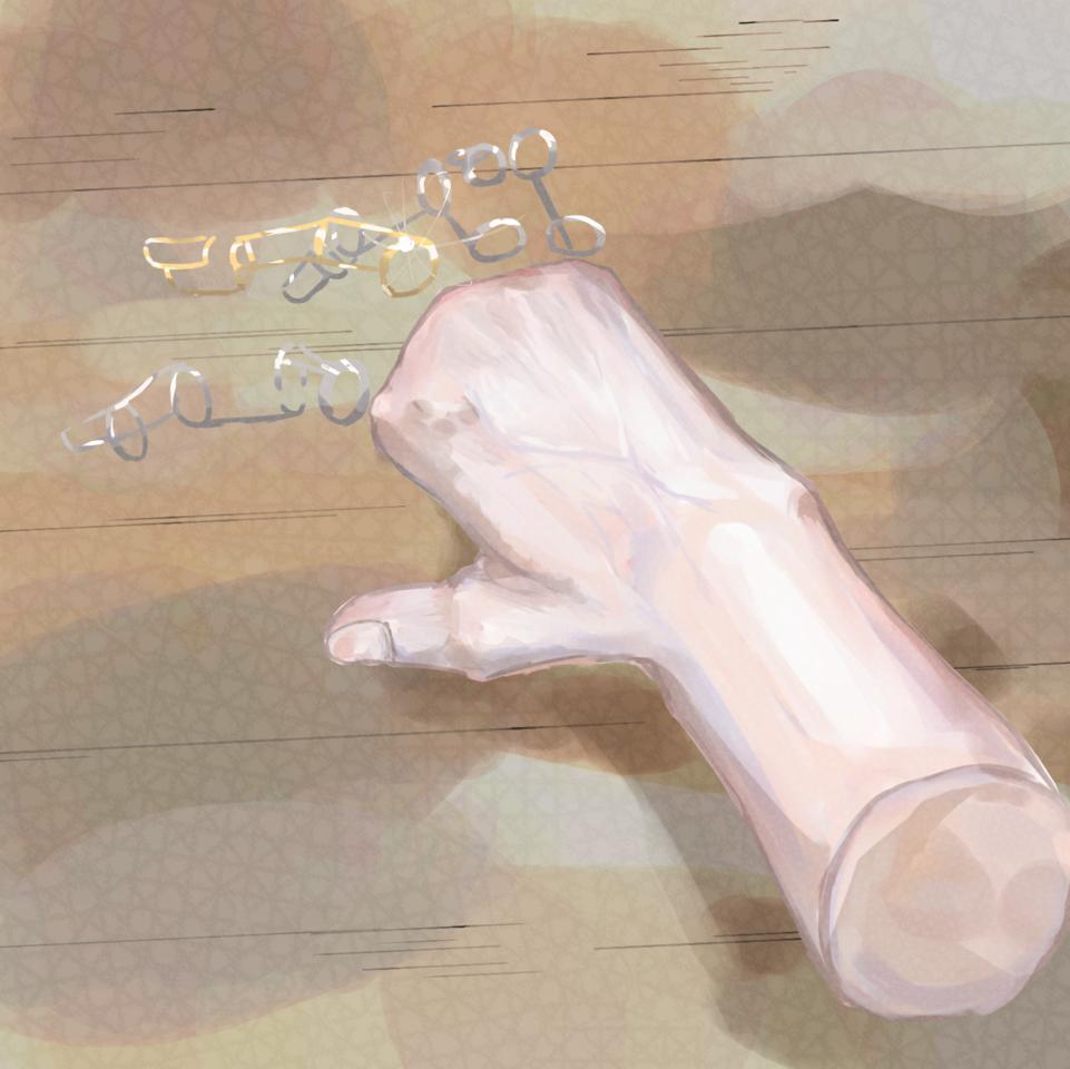 ko-yu-te kakkoii Illust of 甘酒で酔った奴 義指 impasto hand