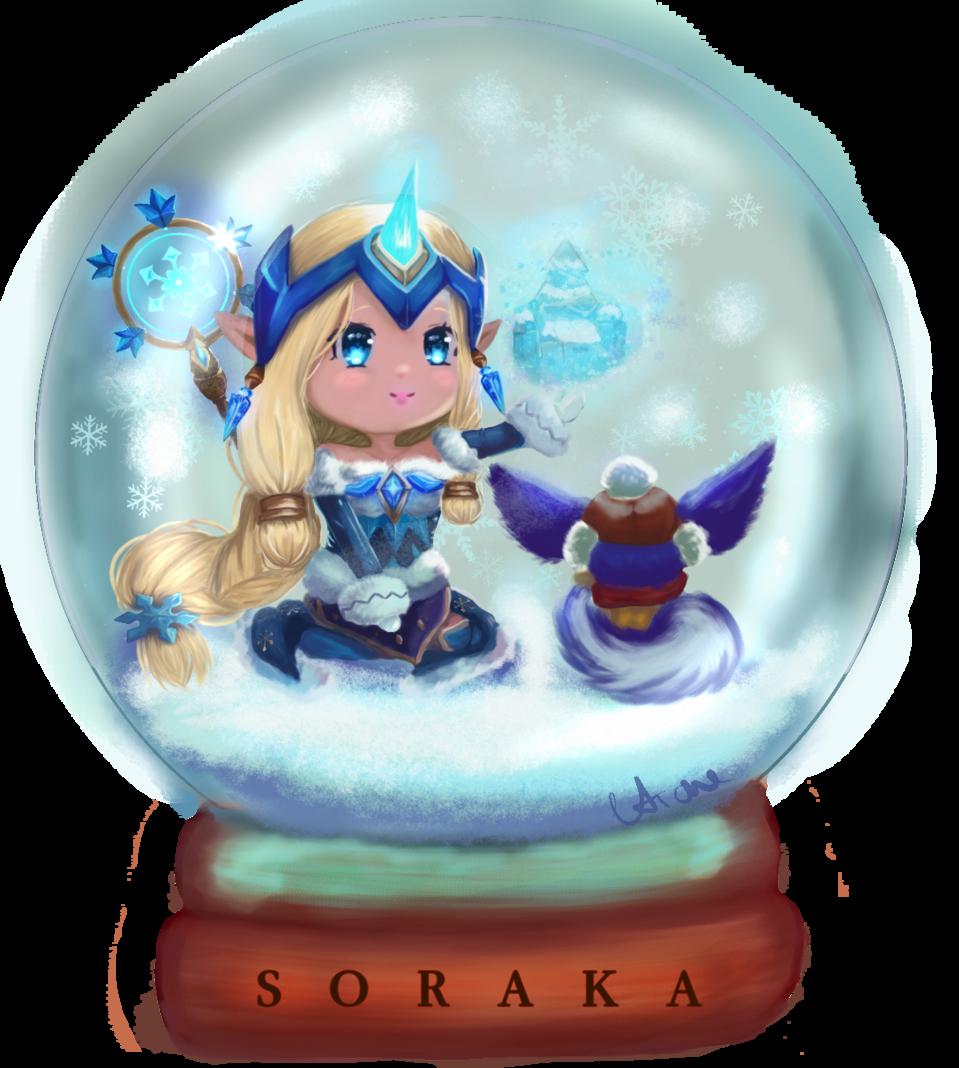 Winter Wonder Soraka Illust of Monoaro chibi fanart LeagueofLegends cute original soraka winter