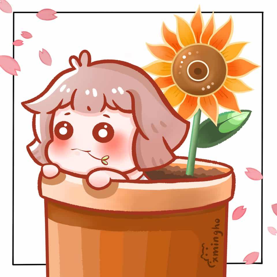 Spring or Summer Illust of xming_ho chibi 春 summer