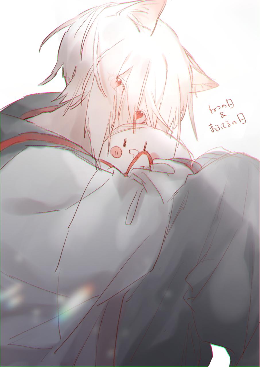 🐈 Illust of みぞれ cat_ears singer doodle illustration mafumafu