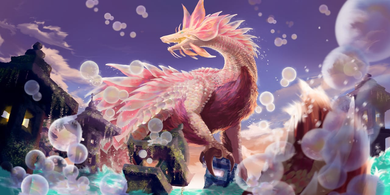 泡 Illust of eating dragon fanfic fox monster fanart MonsterHunter WIP