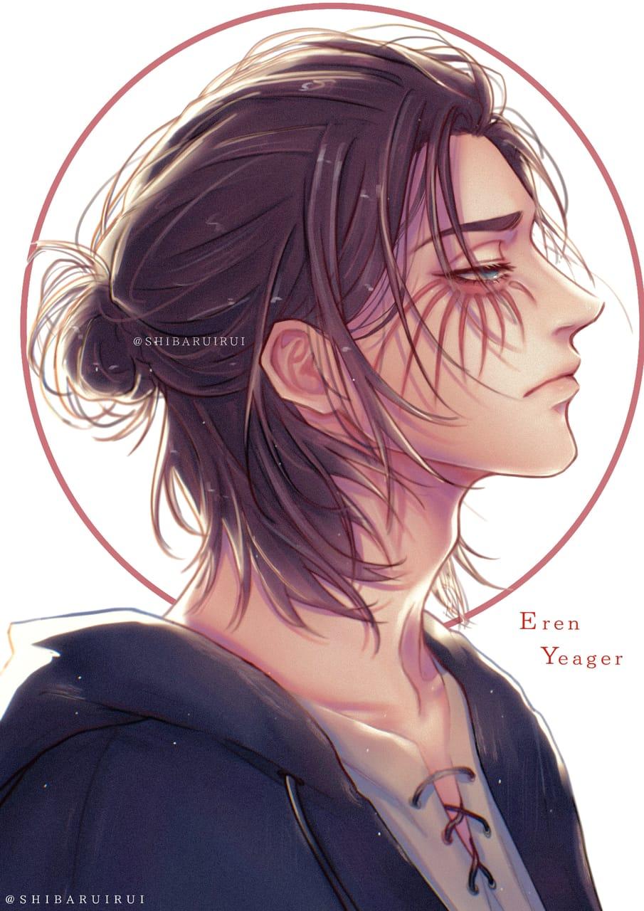 Eren Yeager Portrait Attack on Titan Illust of shibaruirui ErenYeager anime animeboy