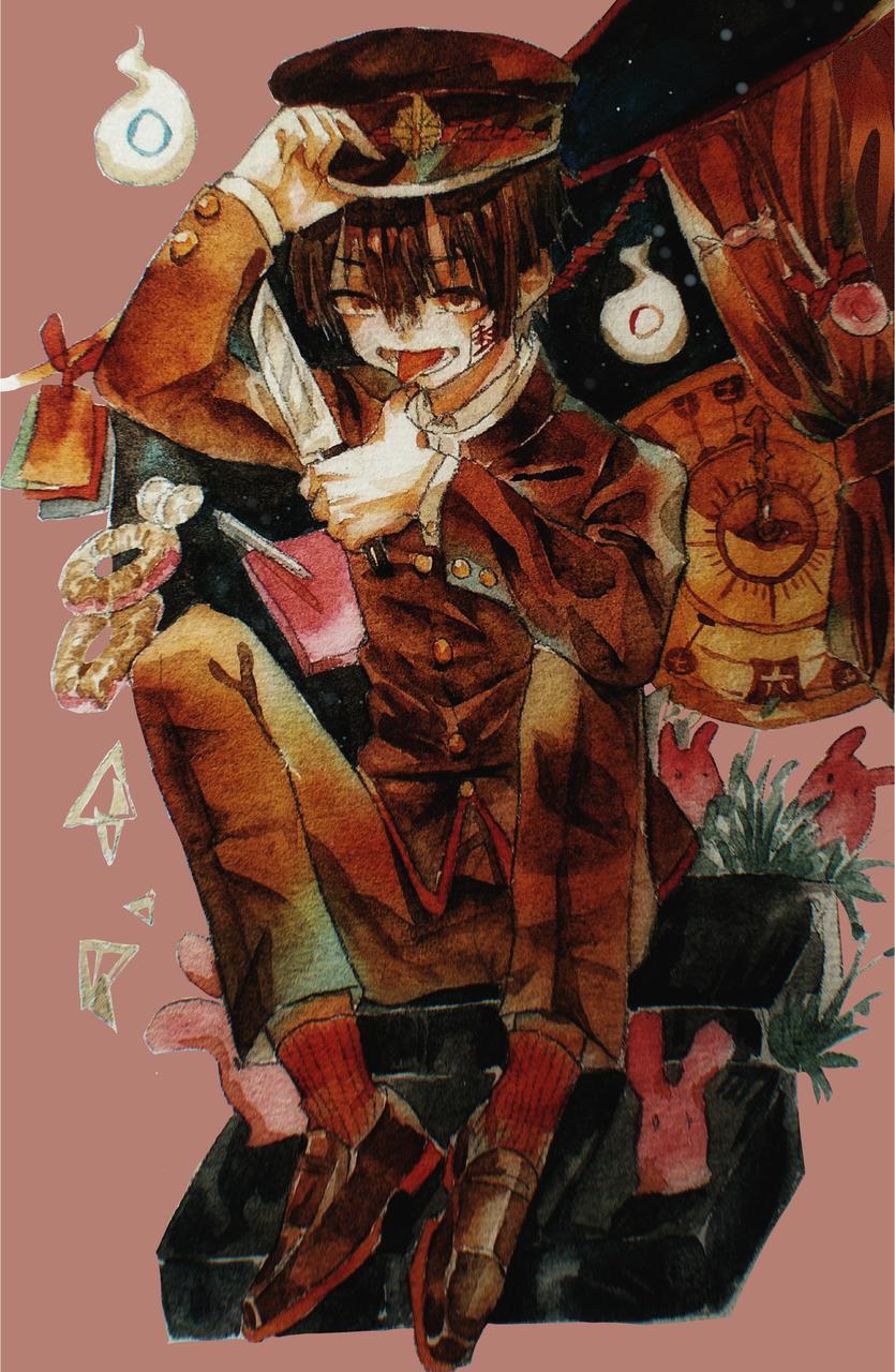 地缚少年花子君 Illust of 夜封霜城 medibangpaint watercolor Toilet-boundHanako-kun 二次元 illustration handdrawn