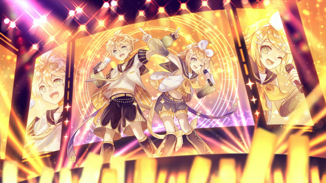 超フレッシュなツインボーカル!! Illust of 星灯れぬ KagamineLen Kagamine_Rin stage VOCALOID 鏡音リン・レン