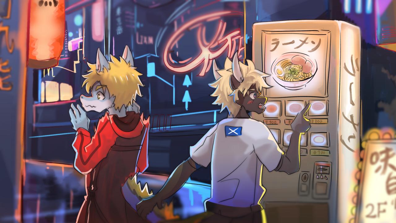 拉麵 Illust of 肯尼吉 October2020_Contest:Food November2020_Contest:Cyberpunk