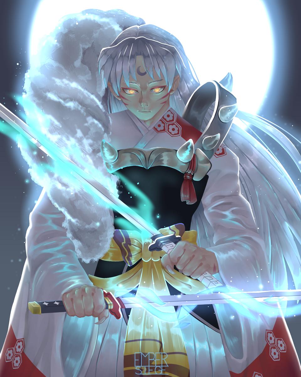 Sesshomaru Illust of EmberSiege white_hair Inuyasha 殺生丸