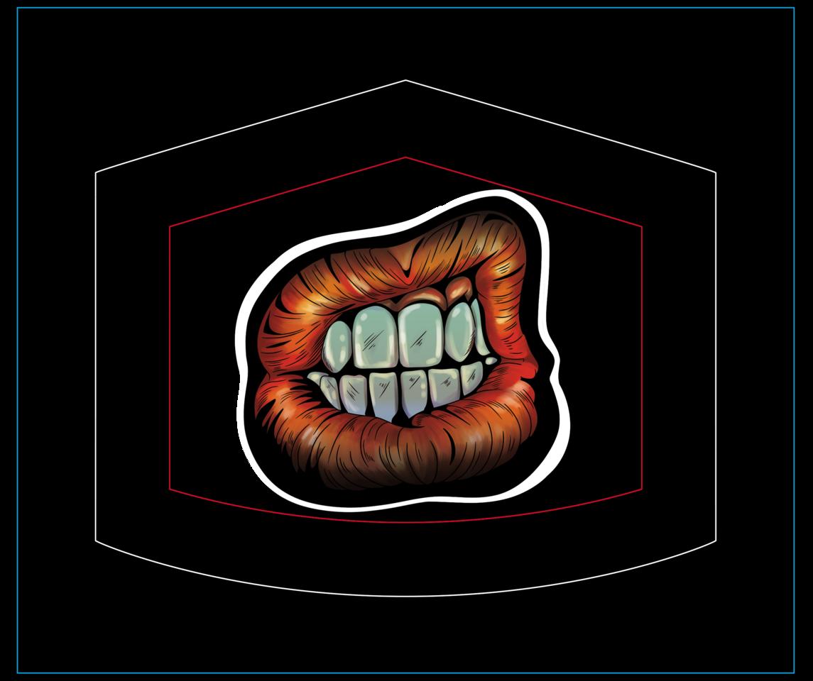 Mouth Illust of DANNARTWORK MaskDesignContest mask drawing ilustration illustration mascarilla