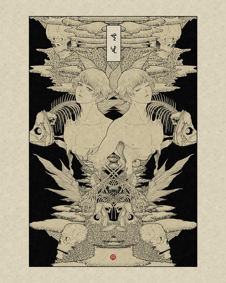 【原創】共生 Illust of ICHIKADO boy illustration 骷髏 originalart original illustrations
