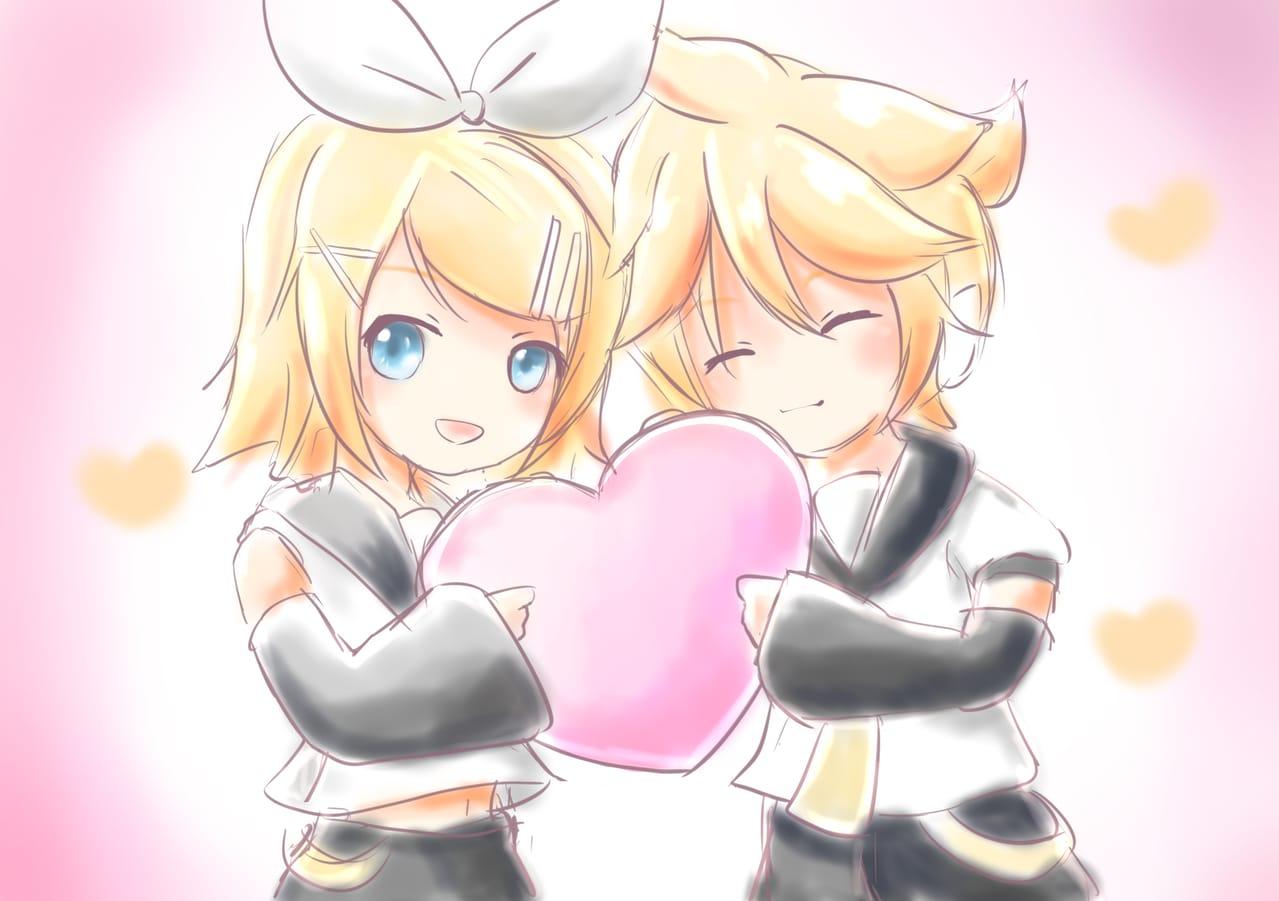 はーと Illust of 88里 ワンドロ Kagamine_Rin heart VOCALOID KagamineLen