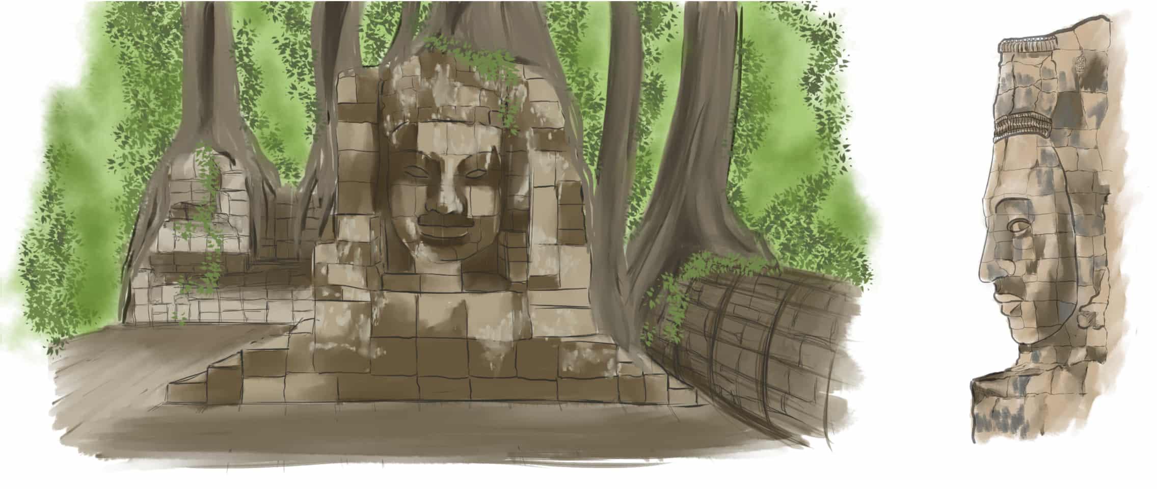 buddha study Illust of Delfe buddha studies
