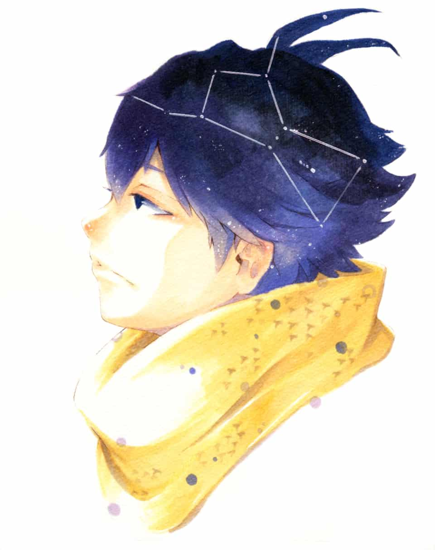 オリオン座の少年 Illust of 陳田こころ Copic painting oc illustration アナログ オリオン boy
