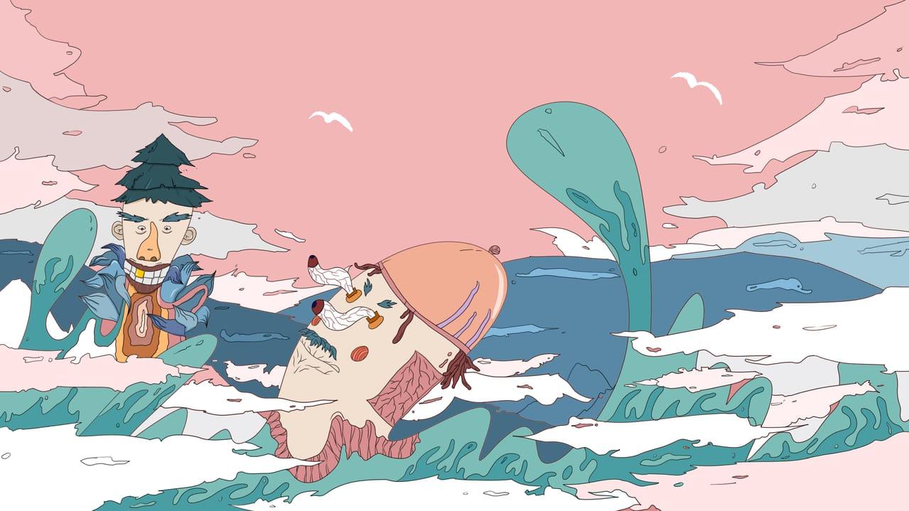 遨游云端的兽 Illust of 洪倩 March2021_Creature