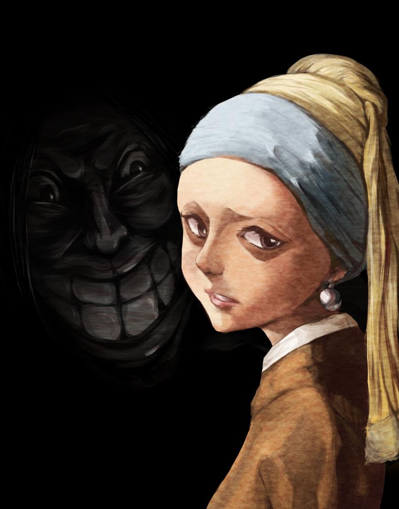 戴珍珠耳環少女的恐懼 Illust of 優格配炒蛋 MasterpieceFanart 同人 維梅爾 戴珍珠耳環的少女