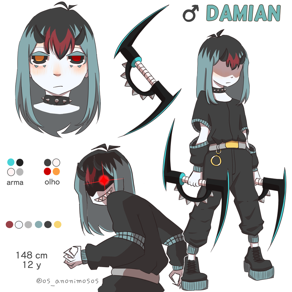 oc: damian / base colors
