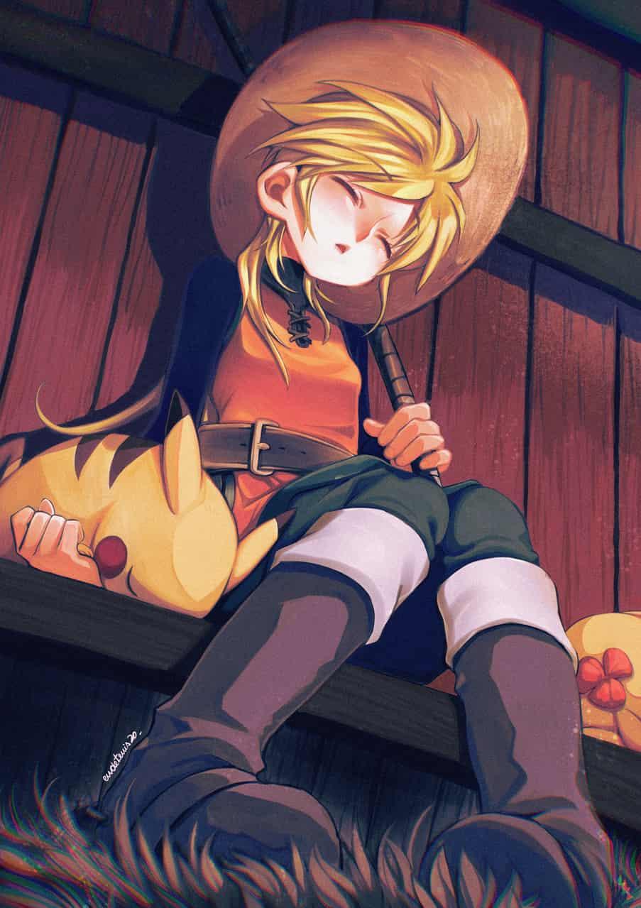 イエロー Illust of EUDETENIS Pikachu yellow pokemon