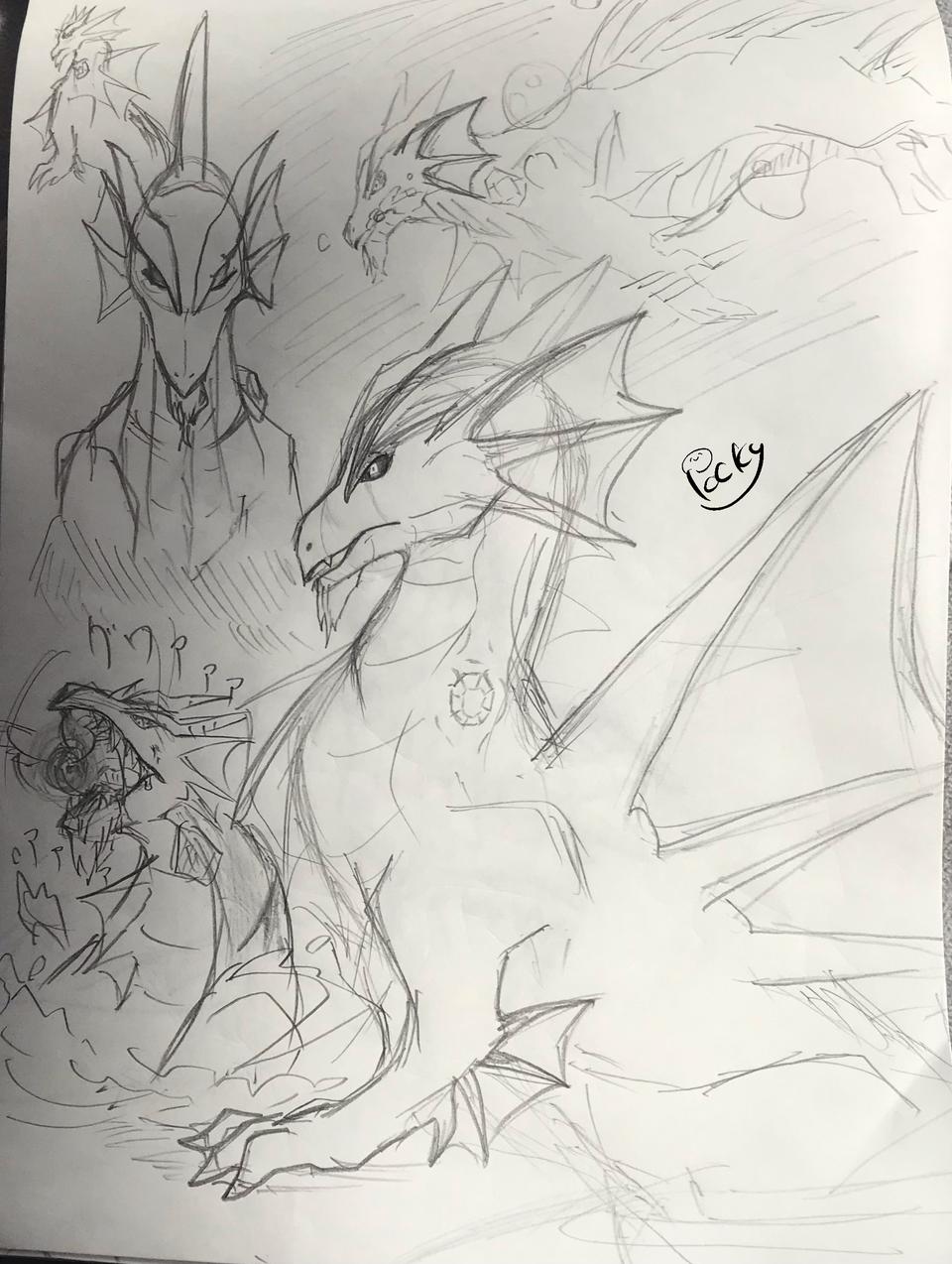 ドラゴン Illust of ぽっきー medibangpaint