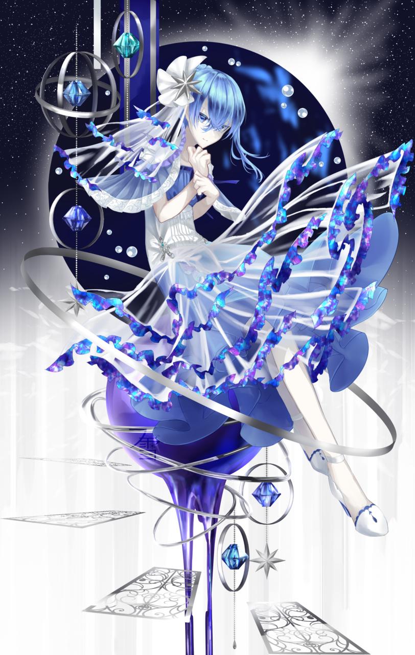 光輪 Illust of フ雪 illustration girl original blue oc