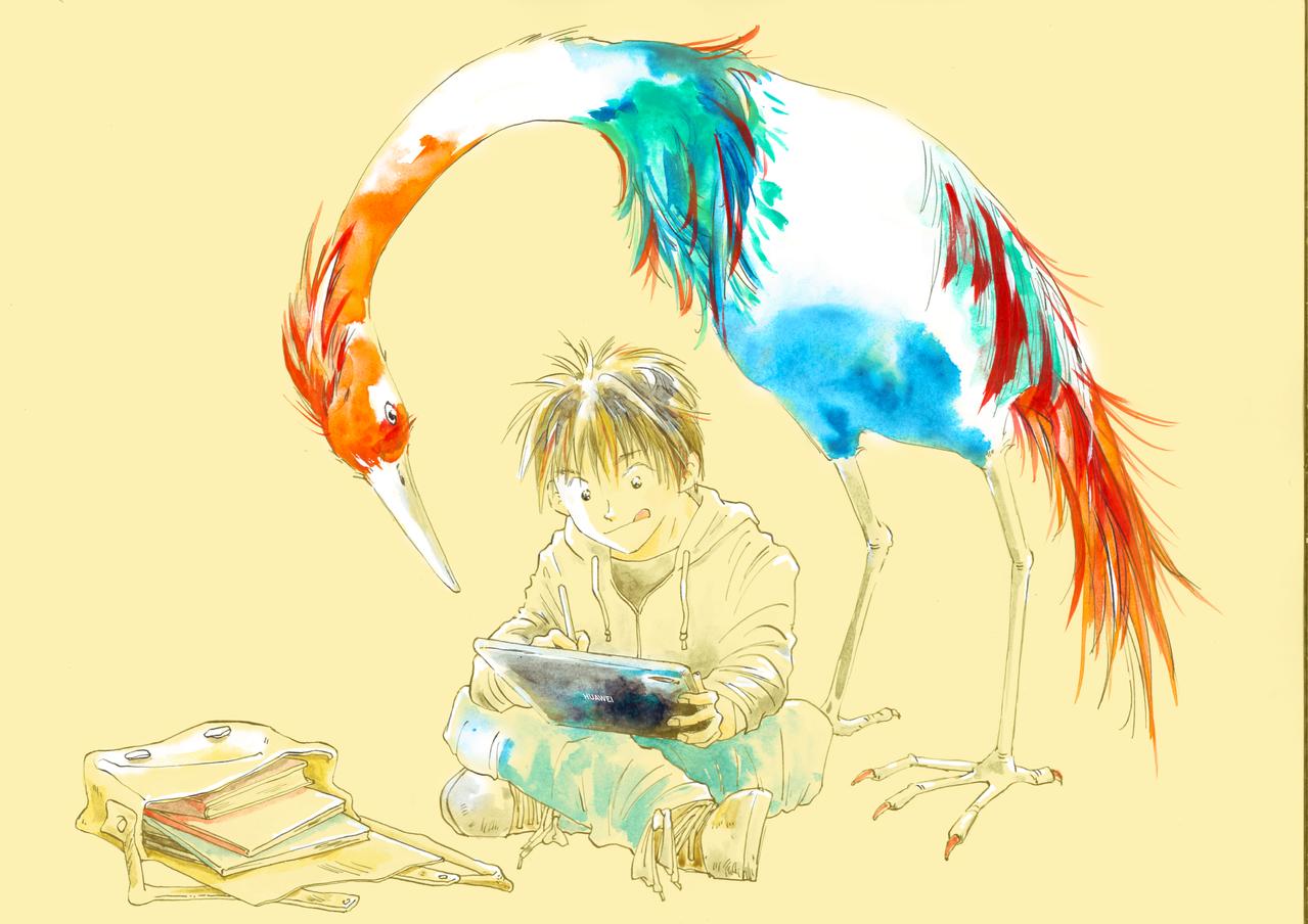 鳥が好き Illust of ebara HUAWEIイラスト&マンガコンテスト HUAWEIイラスト&マンガコンテスト:イラスト部門 birds doodle