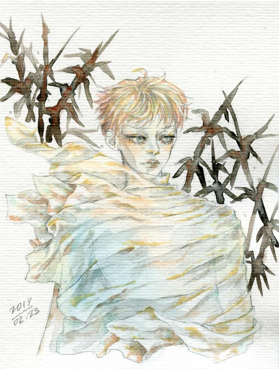 Reeds (copic sketch) Illust of mae_ko3 illustration Comics markers oc sketch Copic animeart boy