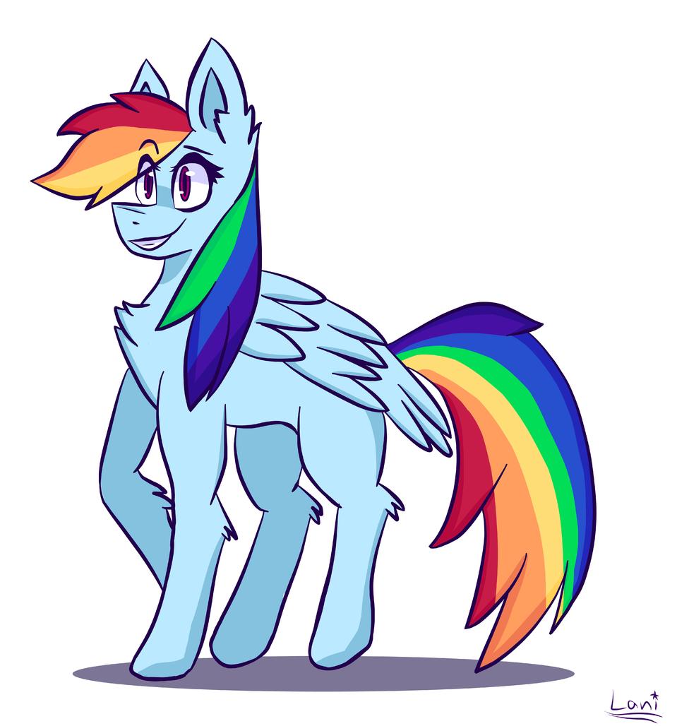 Rainbow Dash :> Illust of Tape/Lani.   emo medibangpaint RainbowDash MyLittlePony
