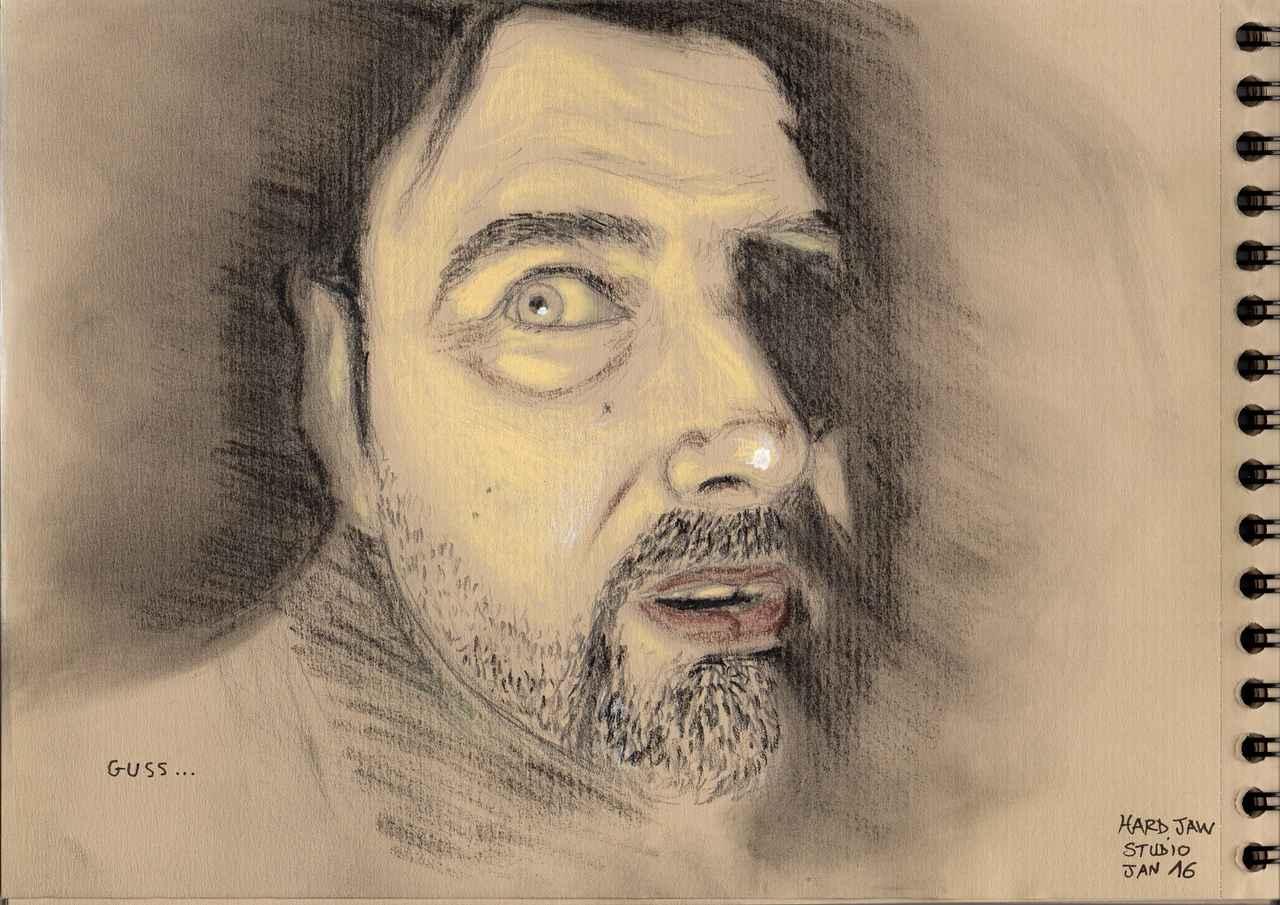 Guss DX Illust of Hard-Jaw crayonpastel Youtuber réaliste