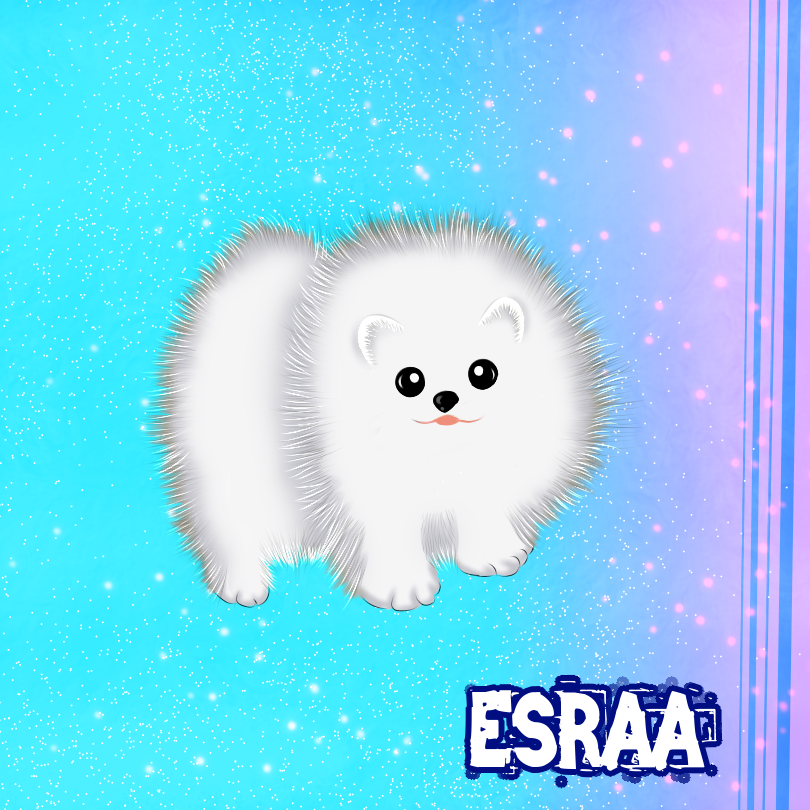 Cute fluffy puppy Illust of 이스라 September2020_Contest:Furry cute painting Pet puppy medibangpaint dog Fluffy android furry