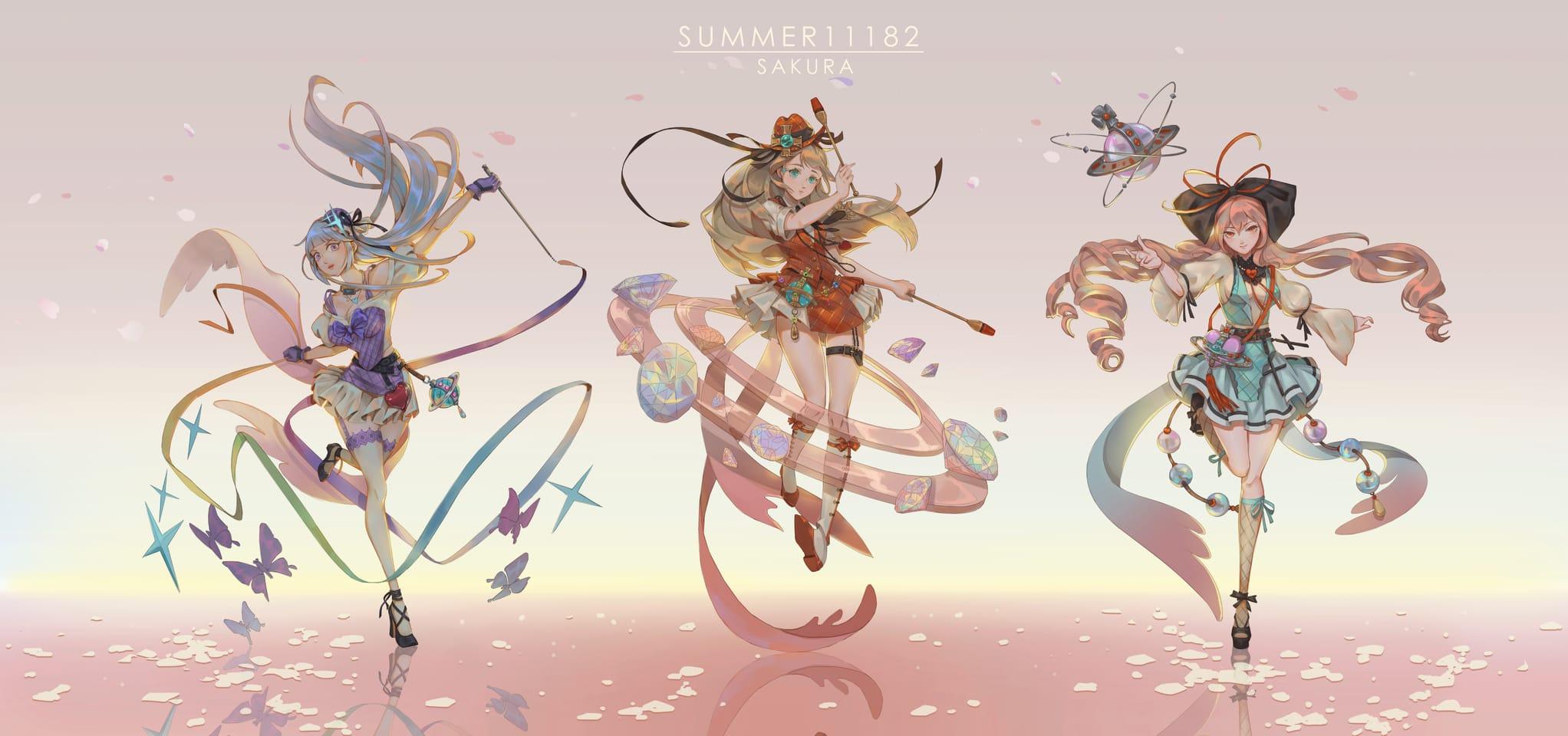 V&SAKURU Illust of summer11182 ふつくしい