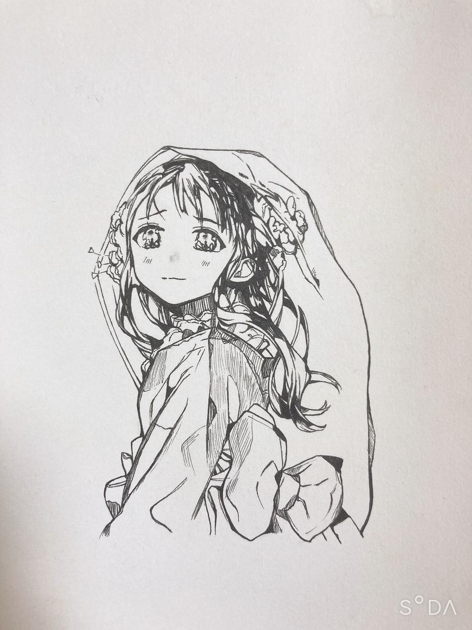 스미레 (오렌만에 그려봄.. Illust of 검은고양이 medibangpaint 손그림