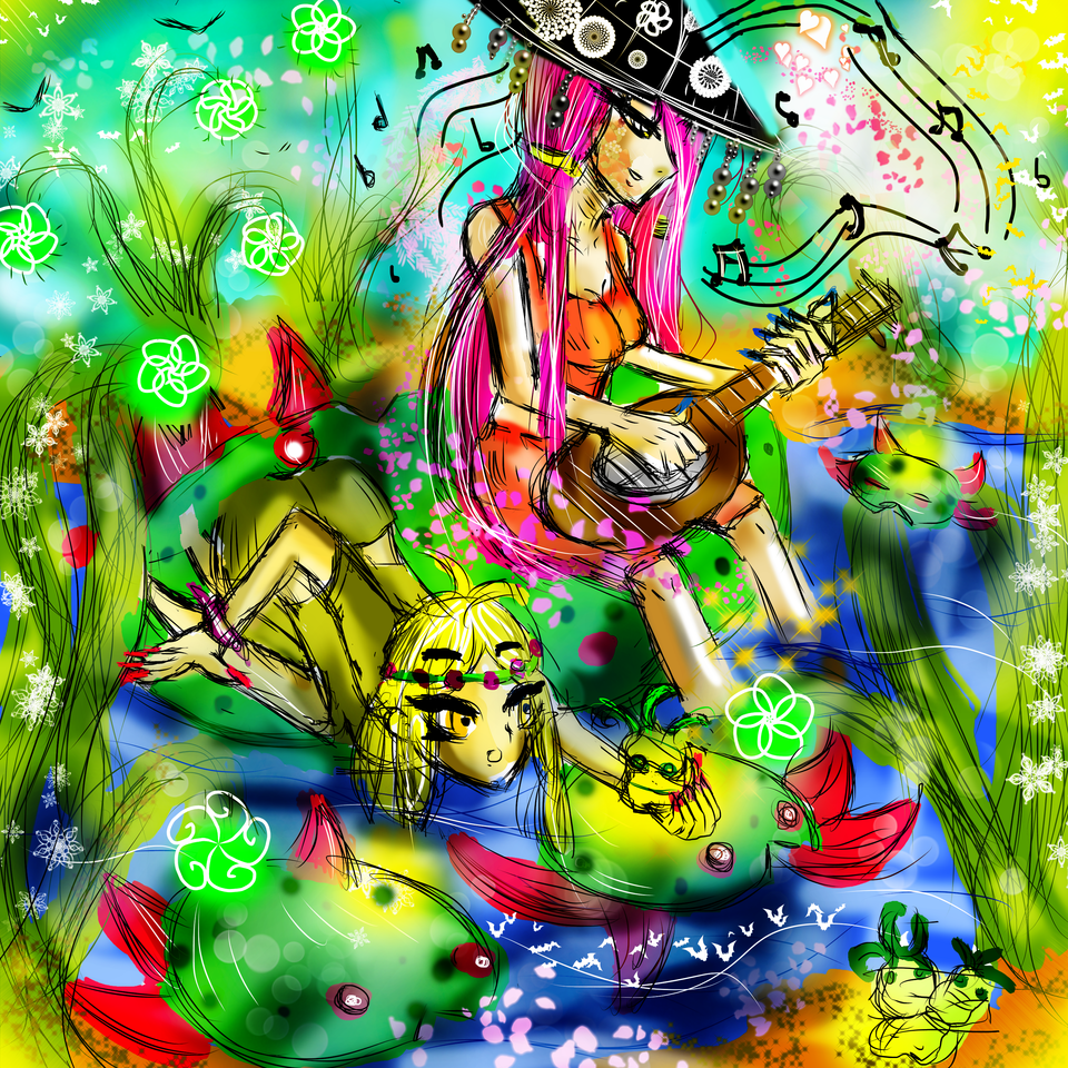 Water Lily Illust of AcP April2021_Flower
