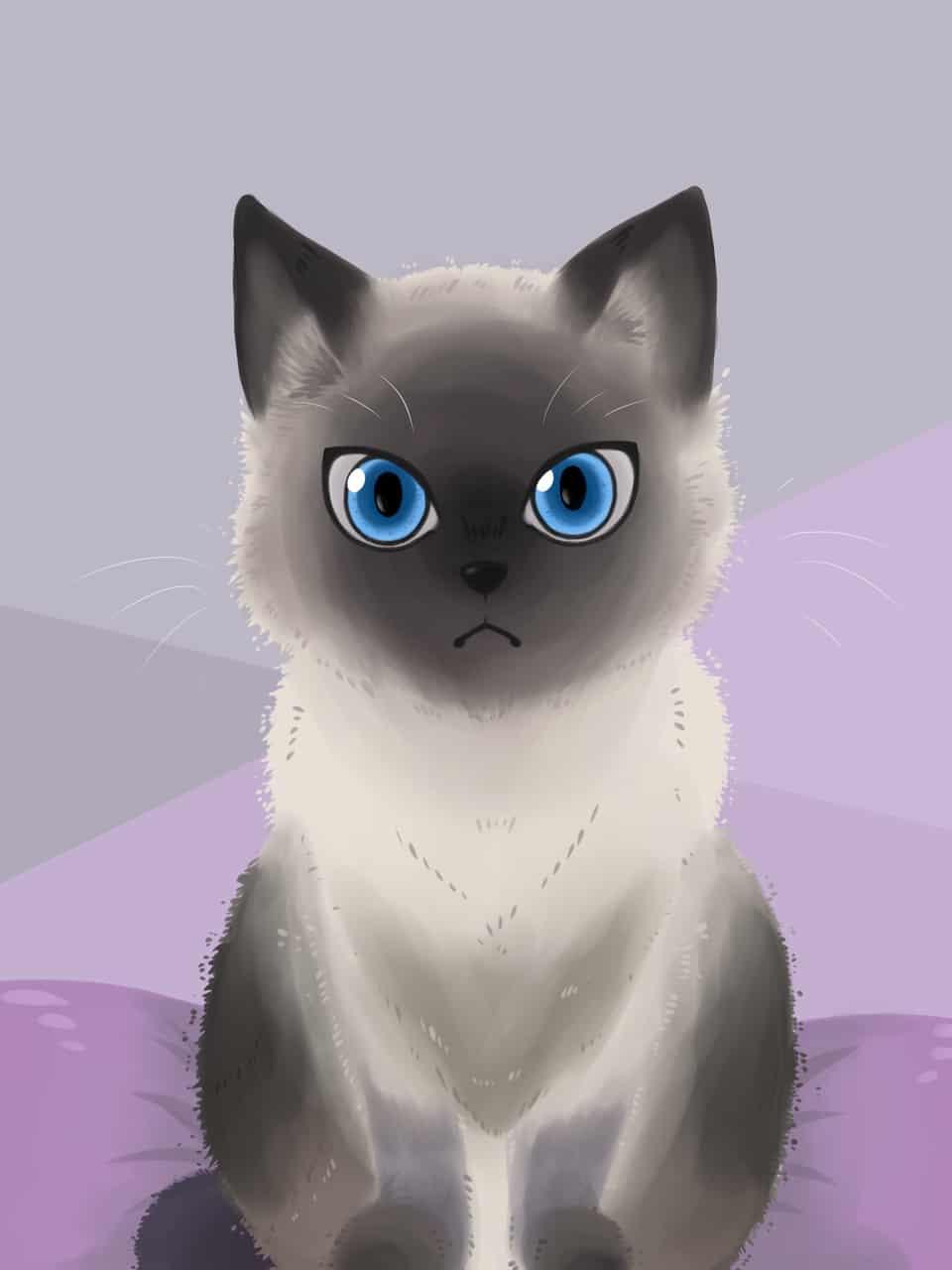 A little Siamese cat Illust of YareYareDaZe DOGvsCAT_CAT cat